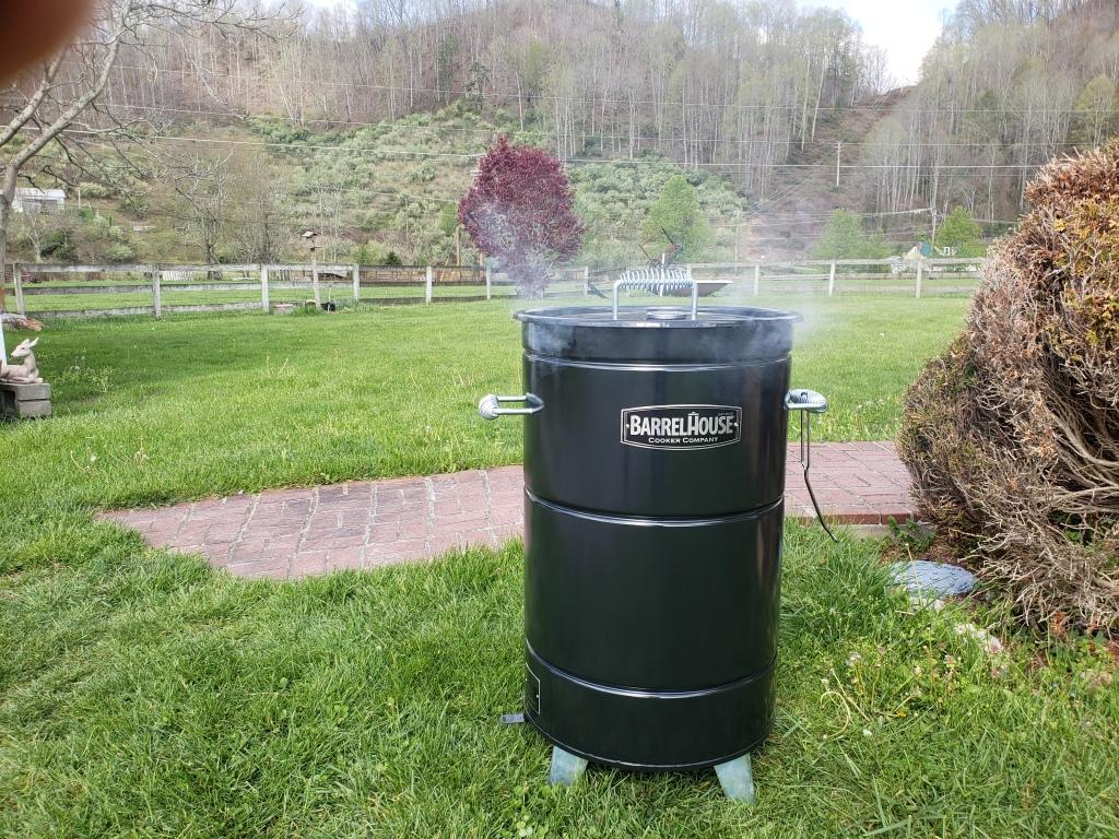 Barrel House Cooker drum smoker