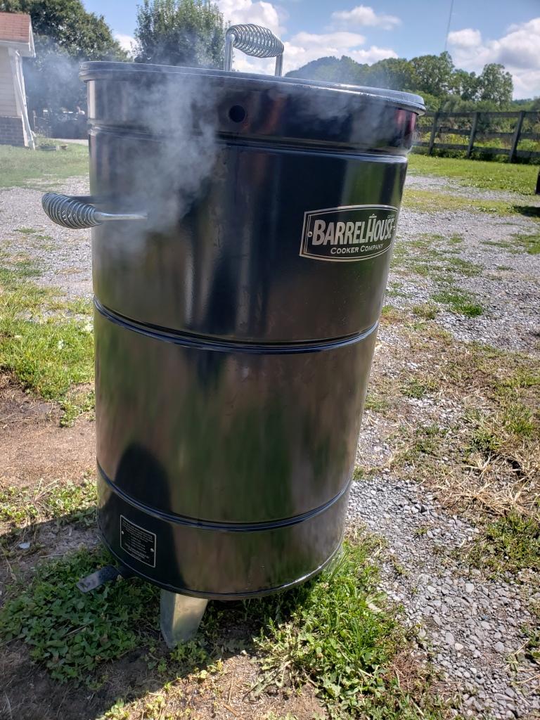 Barrel House Cooker smoking away