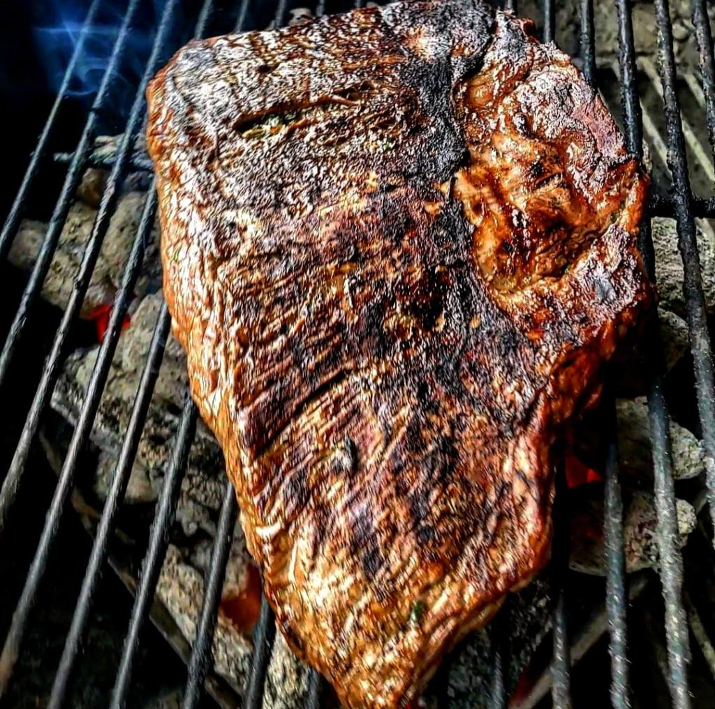 Grilling flank steak