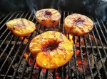 grilling peaches with bourbon brown sugar sauce