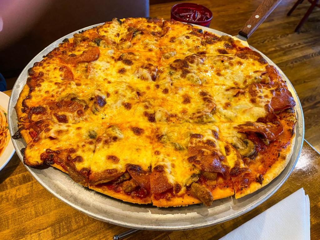 The Angry Italian Original Southsider Tavern-style pizza.